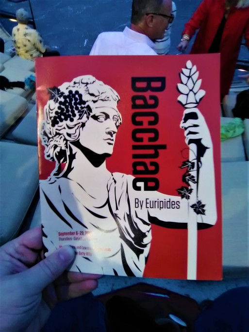 Getty Villa - Bacchae Program