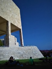 A view of the beautiful grounds of the Getty Center.